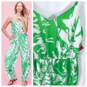 NWT | Lilly Pulitzer Satin Jumpsuit in Boom Boom